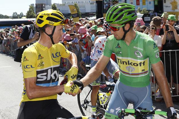 Dvaja najlepšie platení cyklisti sveta. Chris Froome a Peter Sagan.