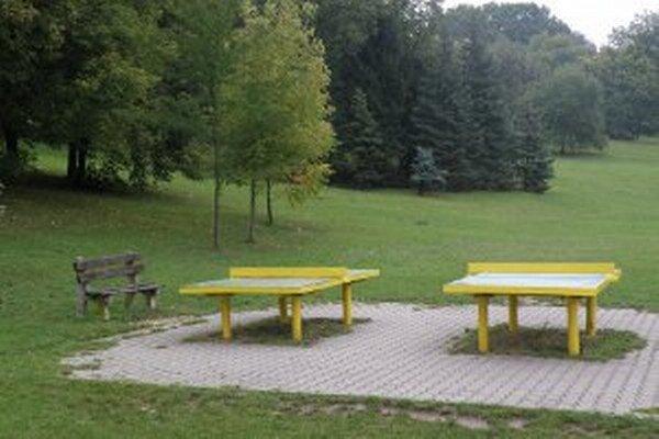 Momentálne sú v parku jedinou atrakciou pingpongové stoly.