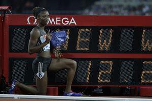 Kendra Harrisonová prekonala svetový rekord v behu na 100 m cez prekážky.