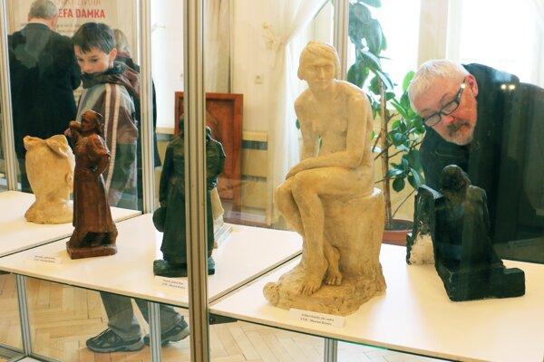 Diela Jozefa Damka môžu návštevníci obdivovať na radnici v Nitrianskom Pravne.