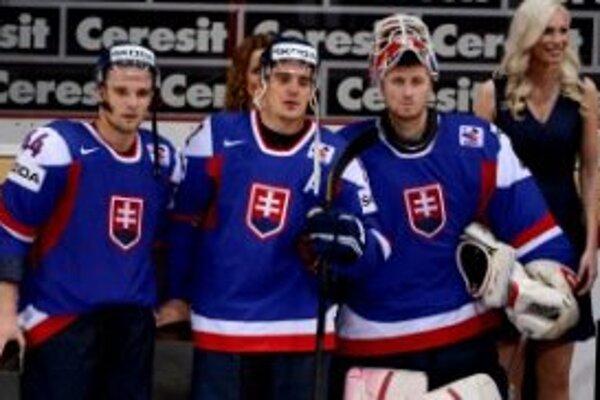 Traja najlepší Slováci na šampionáte. Zľava: Sekera, Radivojevič a Staňa.