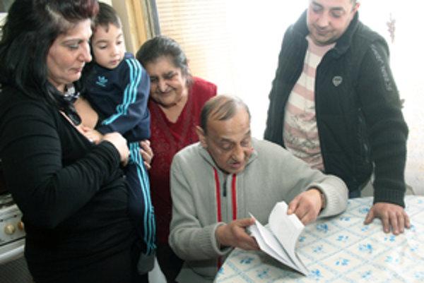 Ján Šándor v kruhu svojej rodiny.