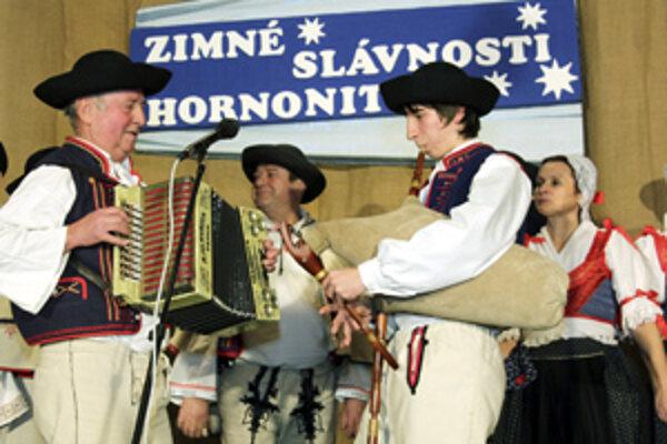Hájiček z Chrenovca-Brusna pri vystúpení v Pravenci.