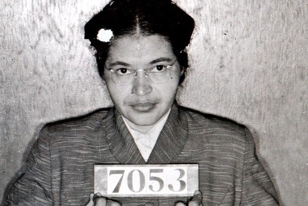 Rosa Parks, symbol boja proti rasovej segregácii v USA.