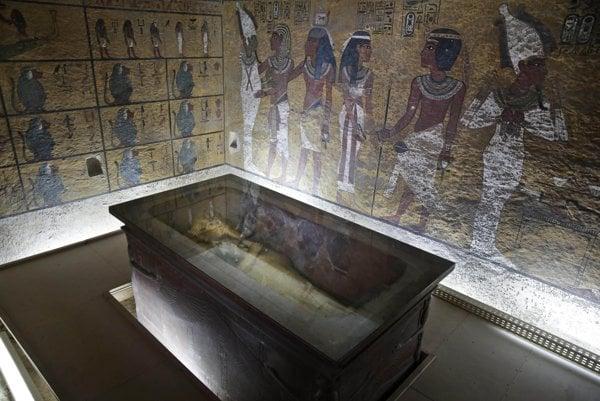 Tutanchamónová hrobka v Luxore.