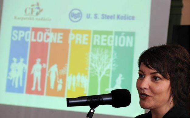 Spoločne pre región má uzávierku 15. januára 2016. Na snímke riaditeľka nadácie Laura Dittel.
