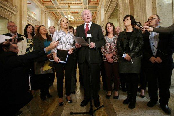 Predstavitelia republikánskej strany Sinn Féin.