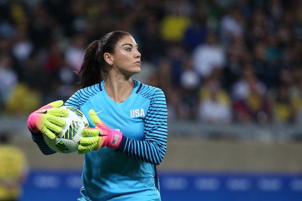 Hope Solová už stála v Brazílii v bráne USA v zápase proti Novému Zélandu.