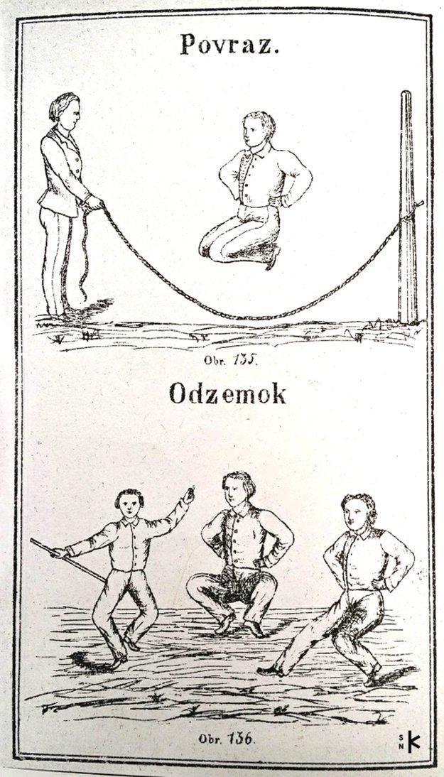 Odzemok a ďalšie cviky ako odporúčané cvičenie v školách v publikácii Dr. I. Zocha.
