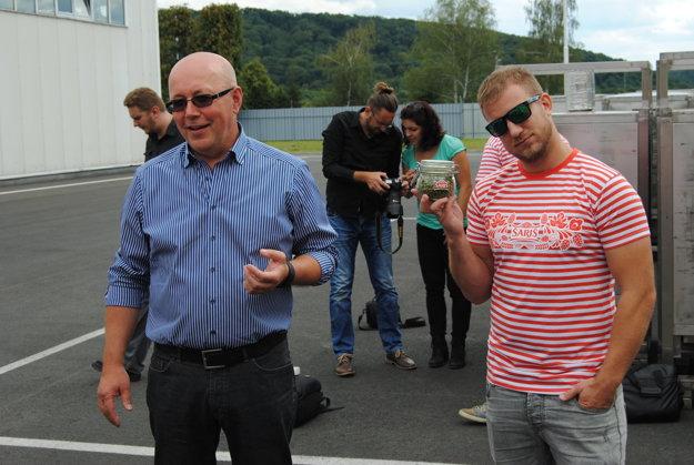 Ján Čerkala a Lukáš Adamec. Hlavný sladovnícky majster a krstný otec nového piva.