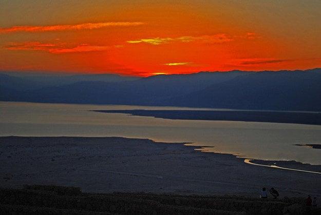 Východ slnka z Masady.