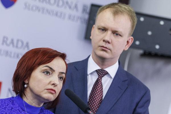 Katarína Macháčková a Miroslav Beblavý.