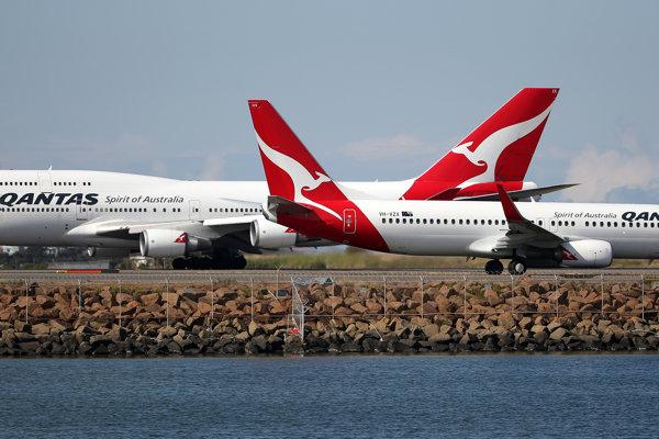 Lietadlá leteckej spoločnosti Qantas.