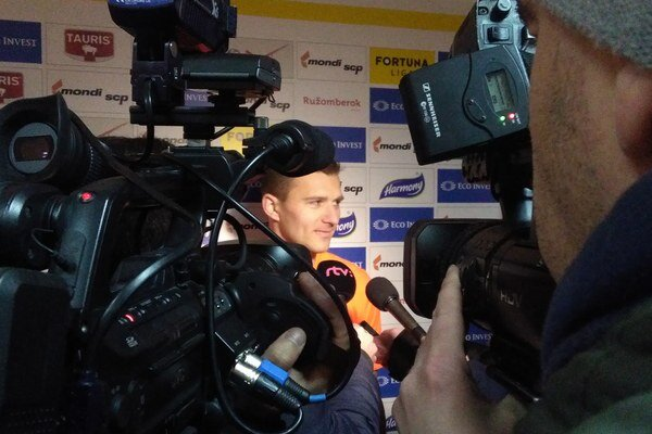Strelec víťazného gólu Miloš Lačný povedal novinárom, že sa mu darí.