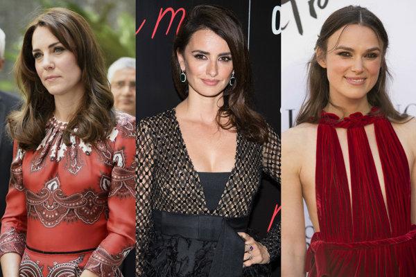 Kate Middletonová, Penélope Cruzová, Keira Knightleyová