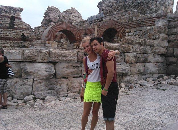 S bratom Davidom v bulharskom Nesebare.