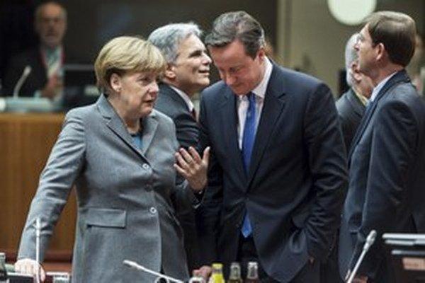Angela Merkelová a David Cameron.