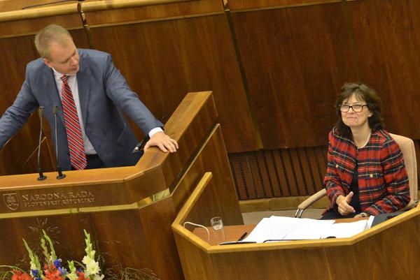 Miroslav Beblavý (nezaradený) a ministerka spravodlivosti Lucia Žitňanská.