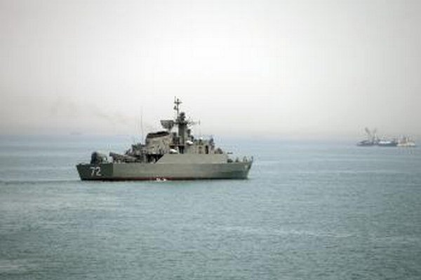 Iránska vojnová loď.