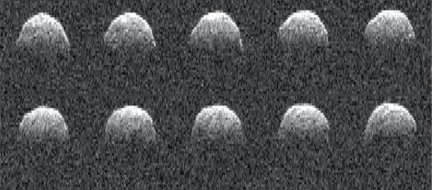 Zábery asteroidu Bennu z roku 1999.