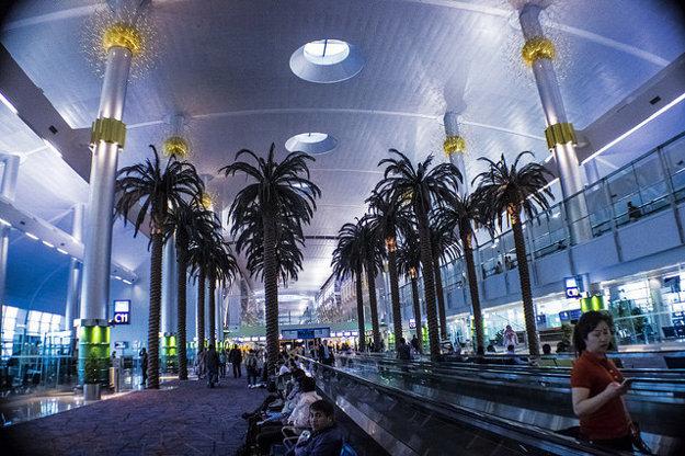 Letisko Changi v Singapure.