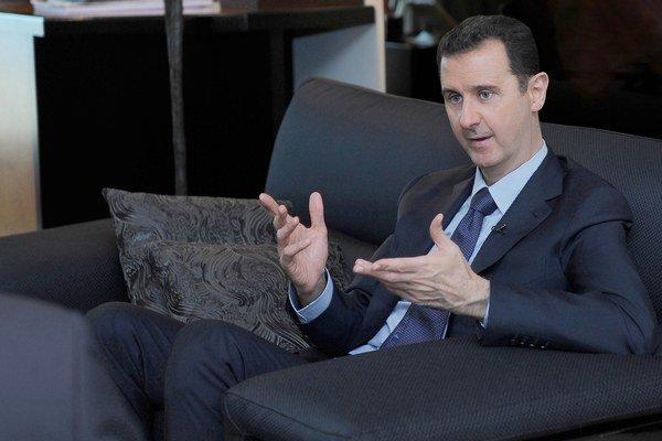 Na archívnej snímke z augusta 2013 sýrsky prezident al-Asad.