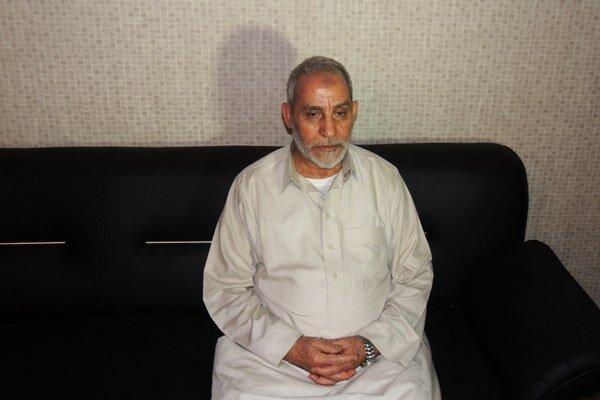 Na snímke vodca Moslimského bratstva Muhammad Badí.