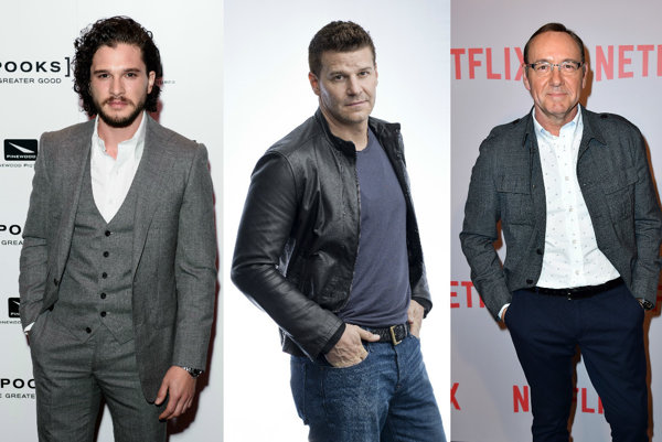 Kit Harington, David Boreanaz, Kevin Spacey