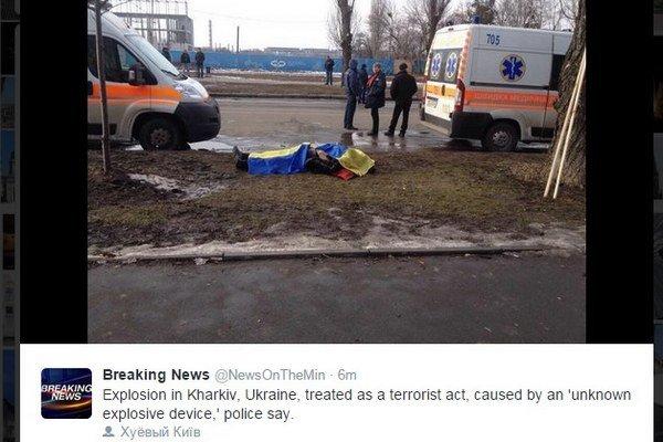 Obeť výbuchu v Charkove.