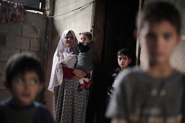 Palestínci v Gaze.