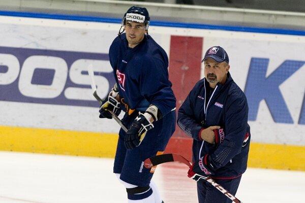 Milan Jurčina (vľavo) spolu s reprezentačným trénerom Zdenom Cígerom.