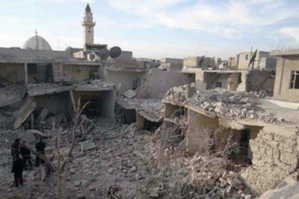 Zničené Aleppo.