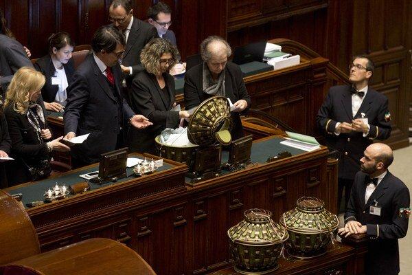 Hlasovanie v talianskom parlamente.