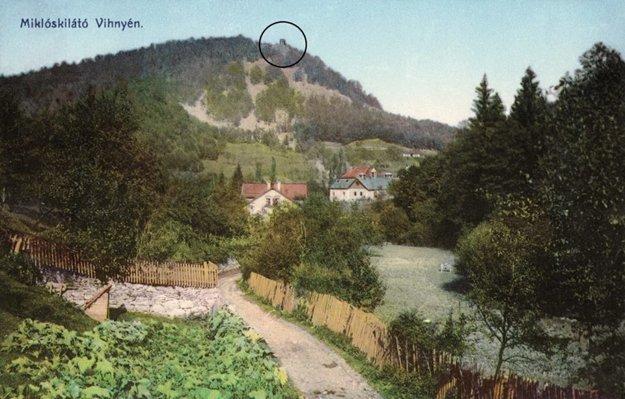 Rozhľadňa na vrchu Kamenná v minulosti.