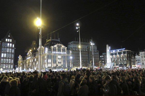 Námestie v Amsterdame.