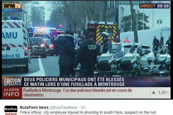 Incident na juhu Paríža.