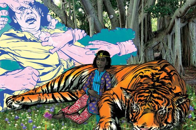 Priya upozorňuje na násilie na ženách v Indii.