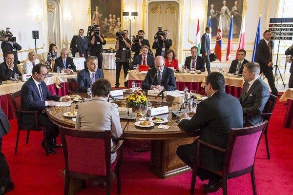 Stretnutie predstaviteľov V4 na GLOBSECu.