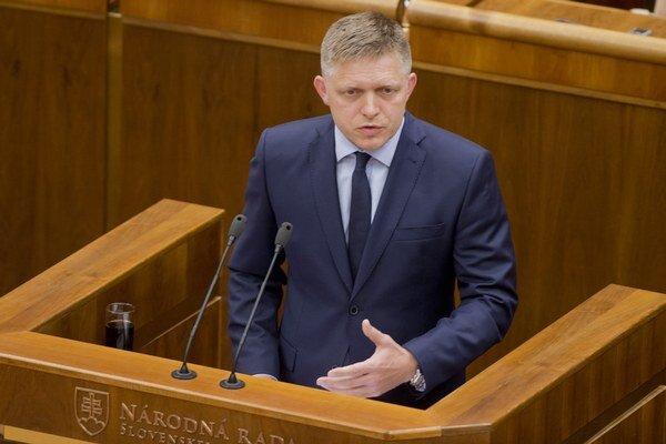 Premiér Fico vystúpil v parlamente.