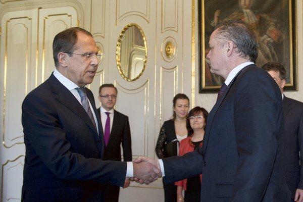 Prezident Andrej Kiska prijal ministra zahraničných vecí Ruskej federácie Sergeja Lavrova.