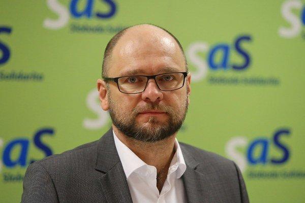 Predseda SaS a europoslanec Richard Sulík.