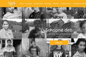 Web online mentorstva schopnedeti.sk je aktívny, prezentuje 36 detí
