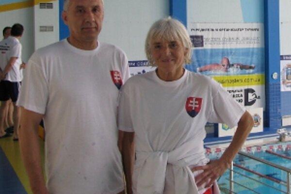 Mária Hausnerová a Peter Manasil na ukrajinských pretekoch.