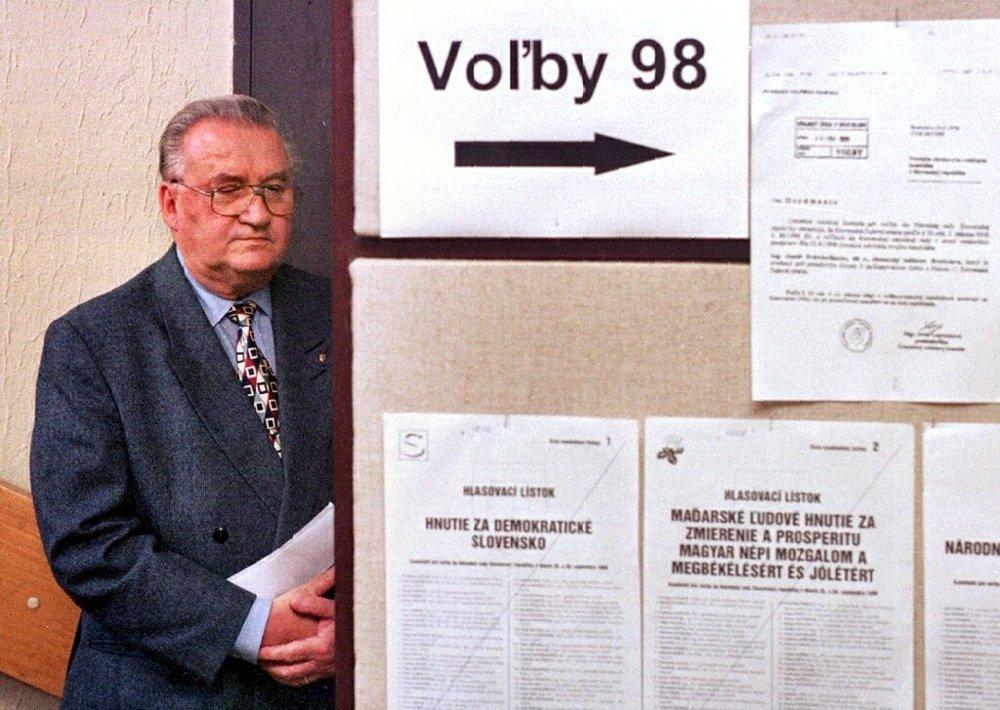 Pri parlamentných voľbách '98.