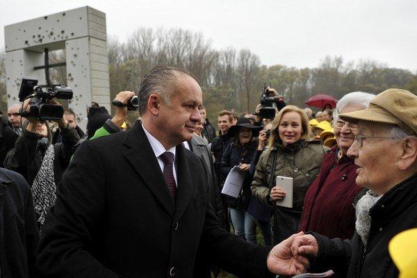 Prezident Kiska pri Bráne slobody.