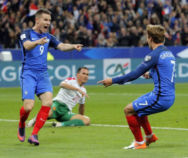 Gameiro (vľavo) a Griezmann boli strojcami francúzskeho úspechu.