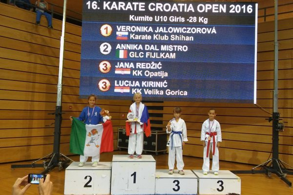 Vybojovala zlato. Veronika Jalowiczorová.