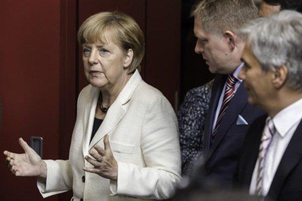 Fico s Merkelovou.