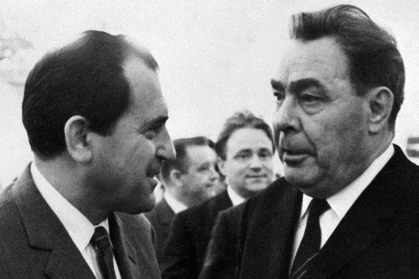 Vasil Biľak s Leonidom Iľjičom Brežnevom v Moskve.