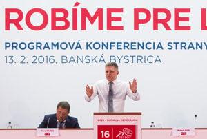 Programová konferencia strany SMER v Banskej Bystrici.